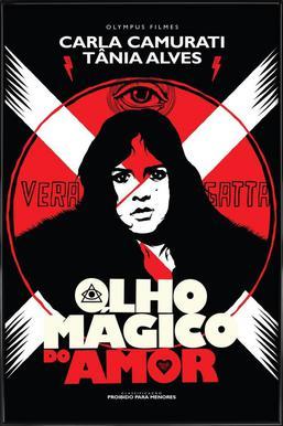 Olho Magico do Amor -Bild mit Kunststoffrahmen