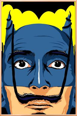Dali Batman Poster in Aluminium Frame