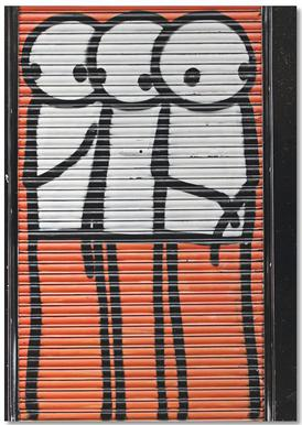 Streetart Rot 2 Notebook