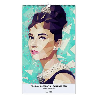 Fashion Illustration Calendar 2020 - Mayka Can2ienova calendrier mural