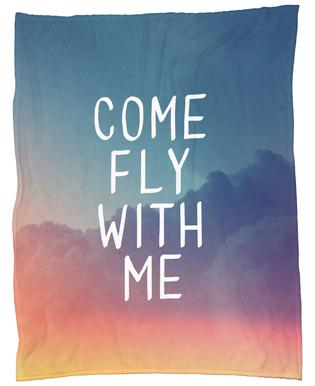 Come Fly with Me Fleece Blanket