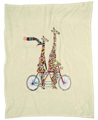 giraffes days lets tandem Fleece Blanket