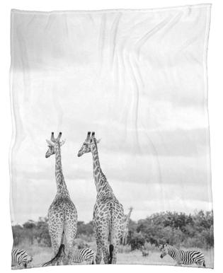 Giraph couple -Fleecedecke