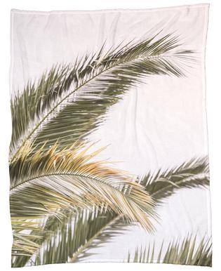 Oasis Palm 3 -Fleecedecke