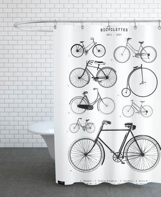 Bicyclettes Shower Curtain