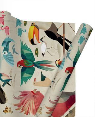 Birds papier cadeau