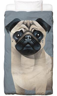 Pug -Kinderbettwäsche
