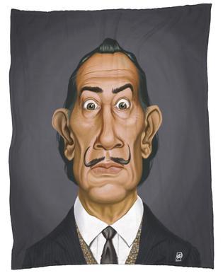 Salvador Dali Fleece Blanket