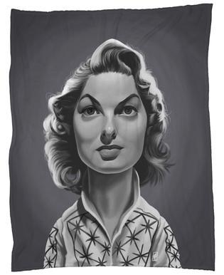 Ingrid Bergman Fleece Blanket