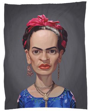 Frida Kahlo -Fleecedecke