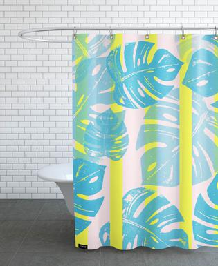 Monstera Neon -Duschvorhang