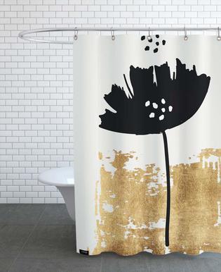 Black Poppy Shower Curtain