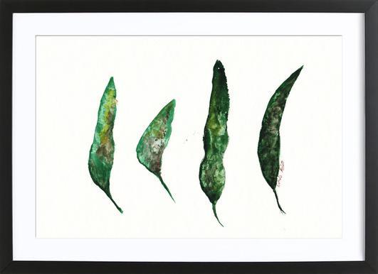 All My Leaves Poster i träram