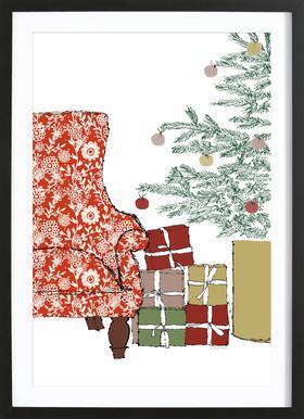 Happy Christmas Time Poster i träram