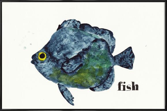 Fish ingelijste poster