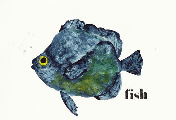Fish Impression sur alu-Dibond