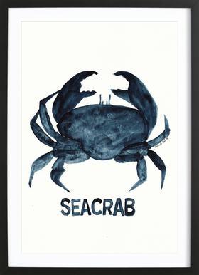 Seacrab affiche sous cadre en bois