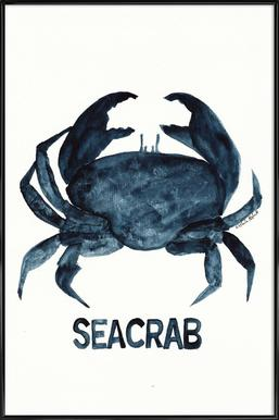 Seacrab ingelijste poster