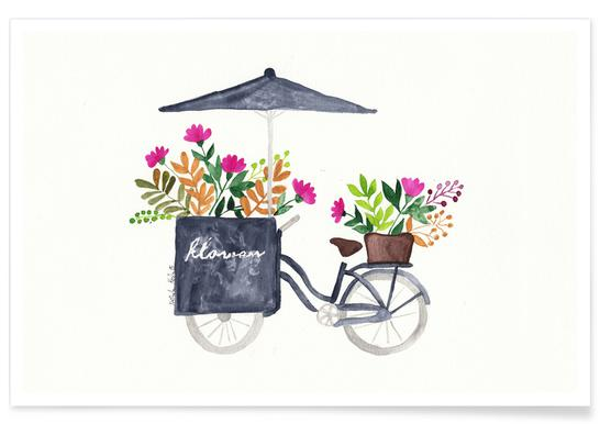 Flowers Bike Poster