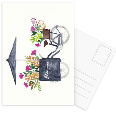 Flowers Bike cartes postales