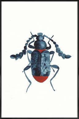 Blue Beetle Framed Poster