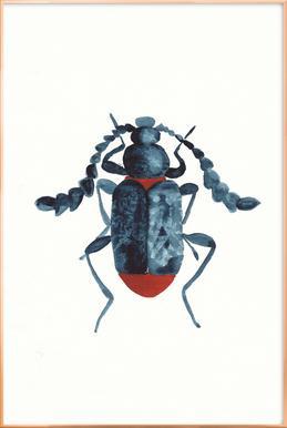 Blue Beetle Poster in Aluminium Frame