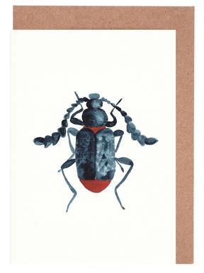 Blue Beetle Greeting Card Set