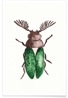 Greeny Beetle Poster