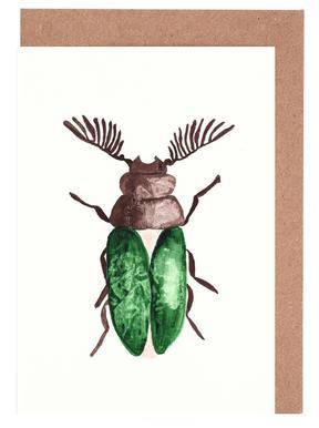 Greeny Beetle Greeting Card Set