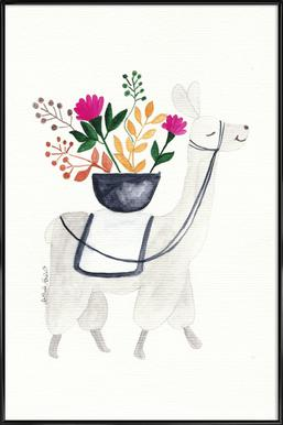 Blumenlama Framed Poster