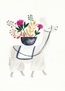 Blumenlama Canvas Print