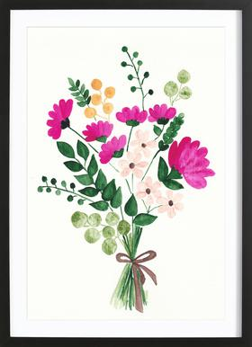 Bouquet ingelijste print