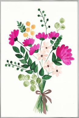 Bouquet Poster in Aluminium Frame