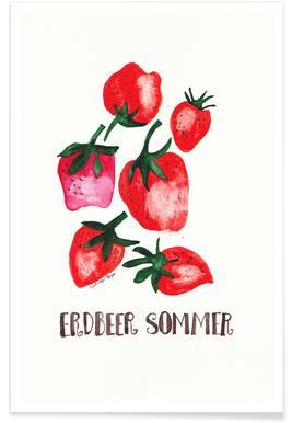 Erdbeer Sommer Poster