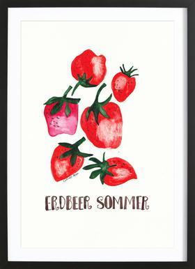 Erdbeer Sommer Framed Print