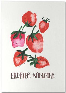 Erdbeer Sommer Notepad