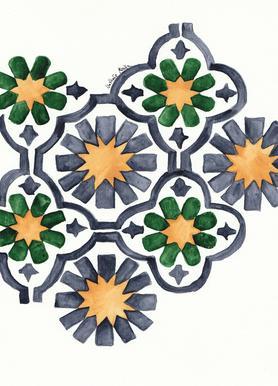 Morocco Lights canvas doek