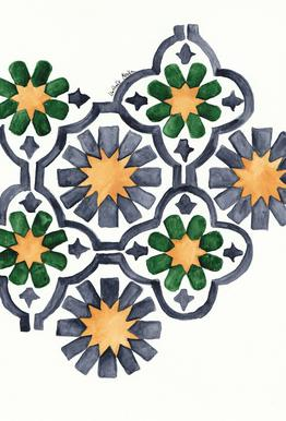 Morocco Lights acrylglas print
