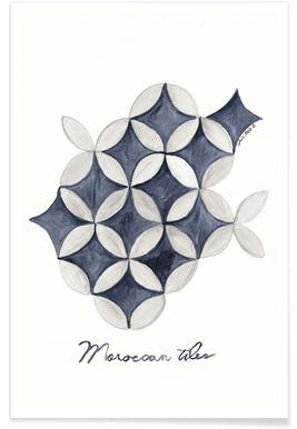 Morocco Tiles Poster