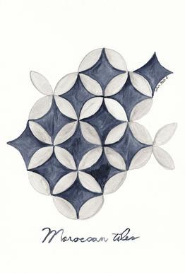 Morocco Tiles Acrylic Print