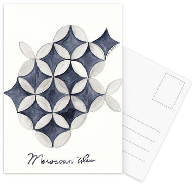 Morocco Tiles Postcard Set
