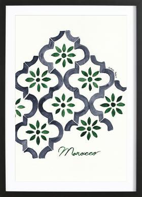Morocco ingelijste print
