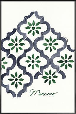 Morocco -Bild mit Kunststoffrahmen