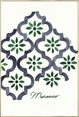 Morocco Poster in Aluminium Frame