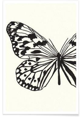 White butterfly -Poster