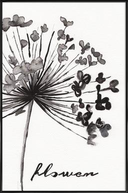 Flower -Bild mit Kunststoffrahmen