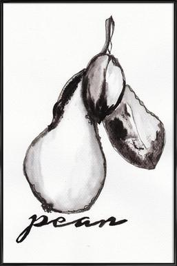 Pear -Bild mit Kunststoffrahmen