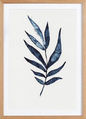Palm Leaf - Poster in Wooden Frame