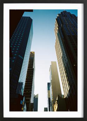New York City -Bild mit Holzrahmen