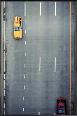 Chasing Cars -Bild mit Kunststoffrahmen